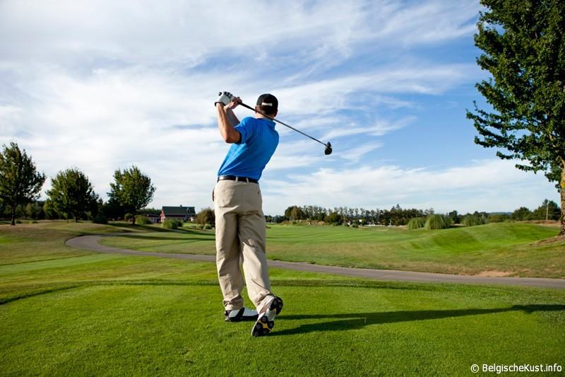 foto golfbaan Westende Belgie